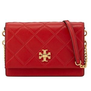 NEW TORY BURCH GEORGIA DIAMOND-QUILTED LEATHER BAG